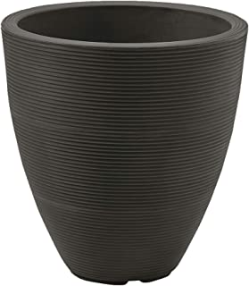 Crescent Garden Delano Tall Planter, Double-Walled Plant Pot, 16-Inch (Old Bronze)