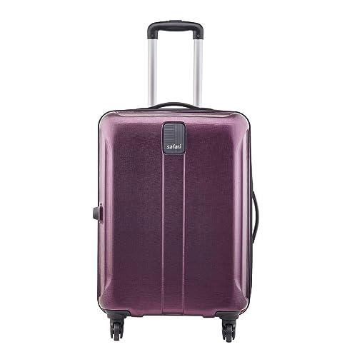 Safari Thorium Stubble 66 Cms Polycarbonate Magenta Check-In 4 wheels  Hard Suitcase
