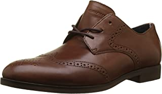 Tommy Hilfiger Men's Dressy Casual Leather Shoe Oxfords, Brown (Winter Cognac 906), 9 UK (FM0FM01742_906)
