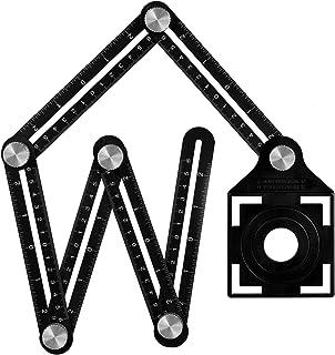 Wohao Règle de Mesure Multi-angle avec trou de positionnement, Règle pliante en alliage d'aluminium à 6 côtés,Template Out...