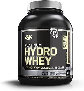 OPTIMUM NUTRITION Platinum Hydrowhey Protein Powder, 100% Hydrolyzed Whey Protein Isolate Powder, Flavor: Turbo Chocolate,...