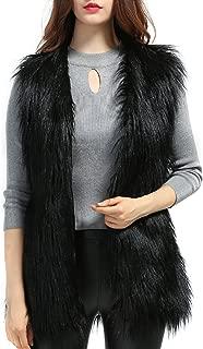 Women's Faux fur Waistcoat Vests Sleeveless Jacket Outerwear