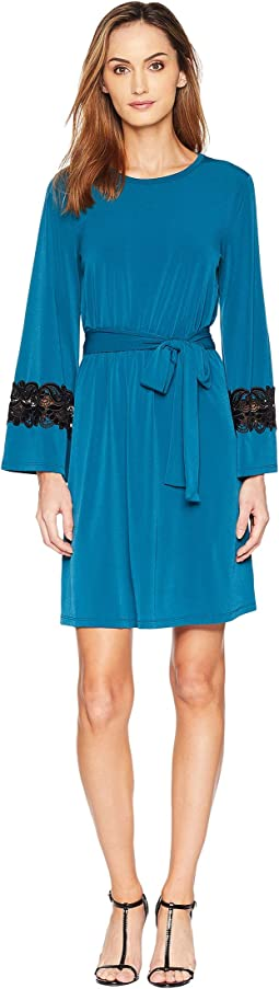 Lace Sleeve Cuff Dress