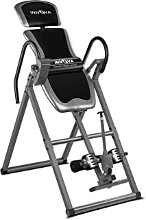 Innova Inversion Table with Adjustable Headrest, Reversible Ankle Holders, and 300 lb Weight Capacity