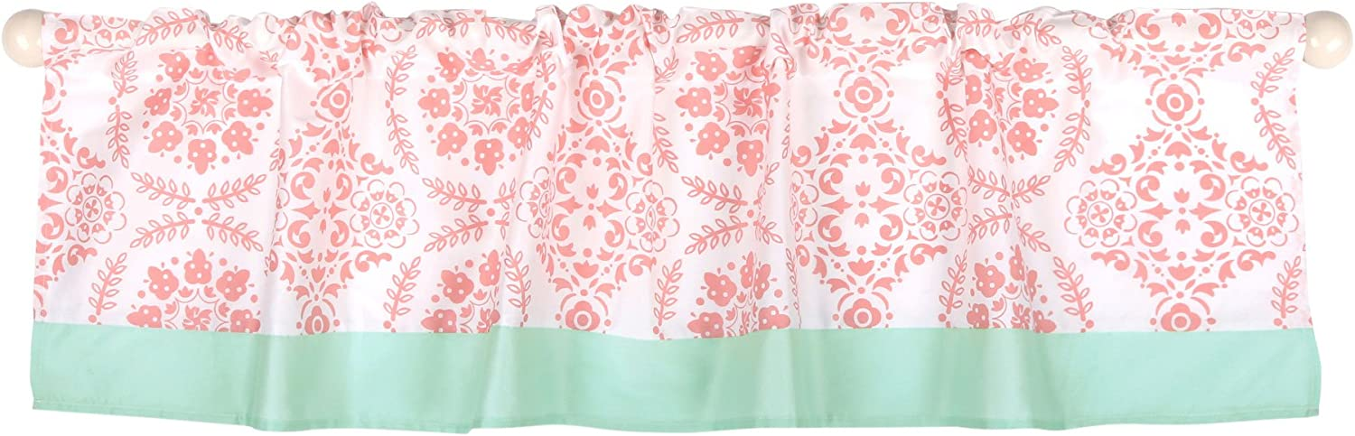 Coral Pink Medallion Print Window Valance - The Bombing free shipping Peanut by half Shell
