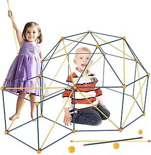 مجموعة بناء حصن للأطفال من جيلوباي، 101 قطعة من ألعاب بناء STEM والهندسة والرياضية، أنفاق بناء القلع، لعب الخيمة، برج صارو...