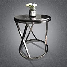 Sofa Side End Table, Side Table Modern Europe Marble Round End Tables Coffee Table Telephone Table Bedroom Bedside Table C...