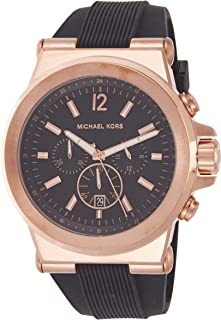 Men's Black and Rose Goldtone Dylan Watch