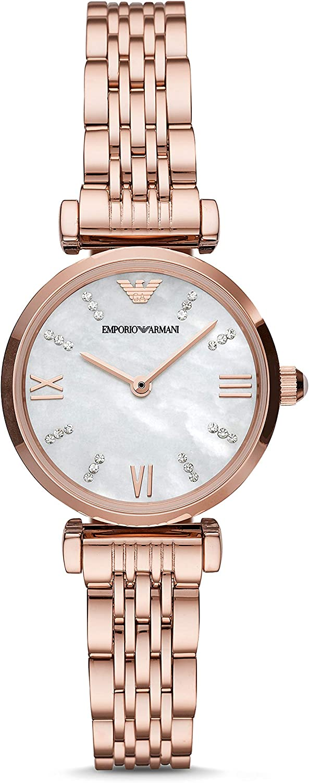 Emporio Armani Reloj Analógico para Mujer de Cuarzo con Correa en Acero Inoxidable AR11316