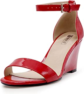 199f9fcd Amazon.com: Red - Platforms & Wedges / Sandals: Clothing, Shoes ...