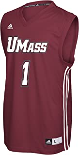 NCAA Massachusetts Minutemen Adult Men Replica Basketball Jersey Large,Maroon