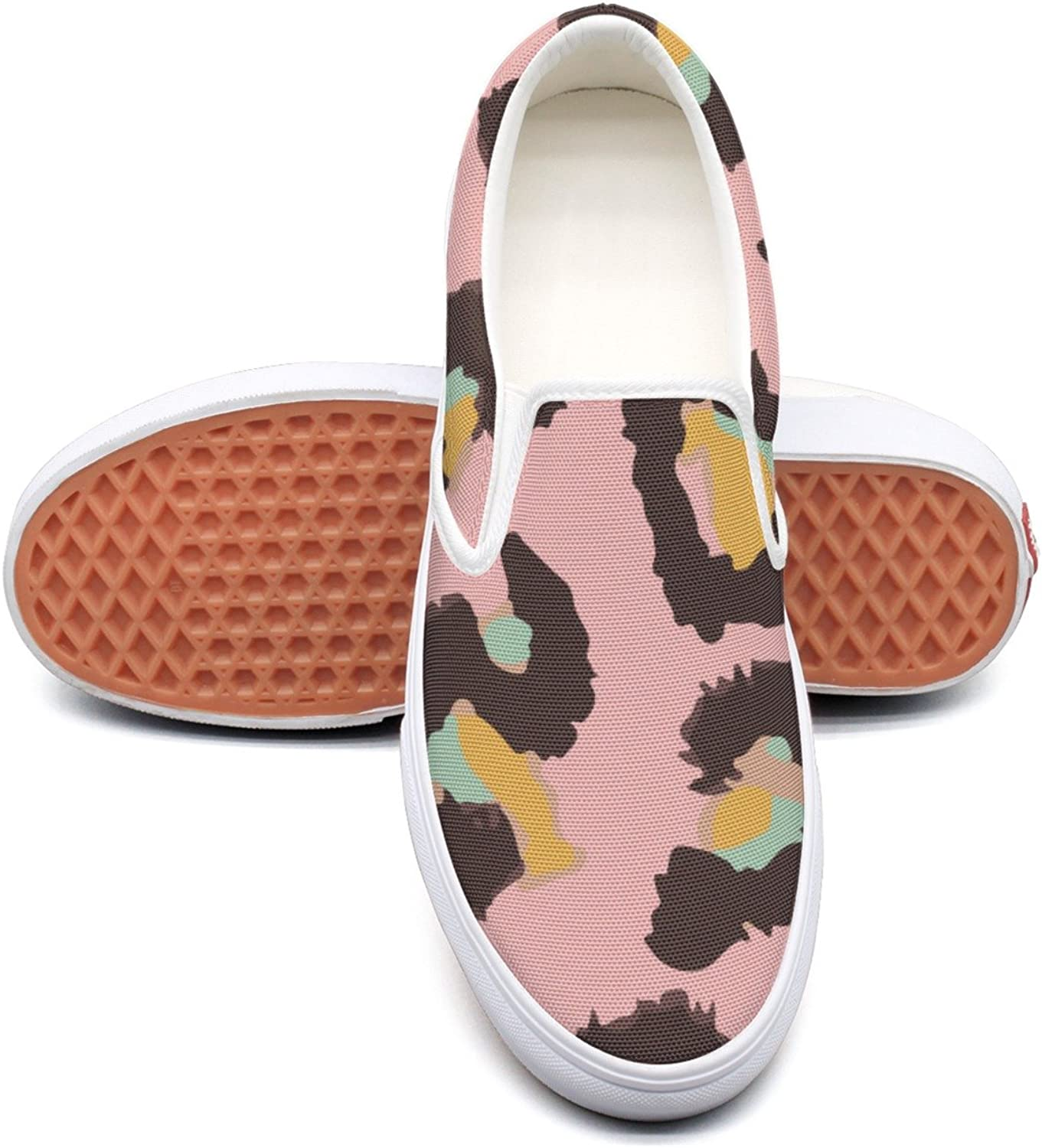 RegiDreae Canvas Slip On Sneakers for Women Animal Print Abstract Fashion Sneaker