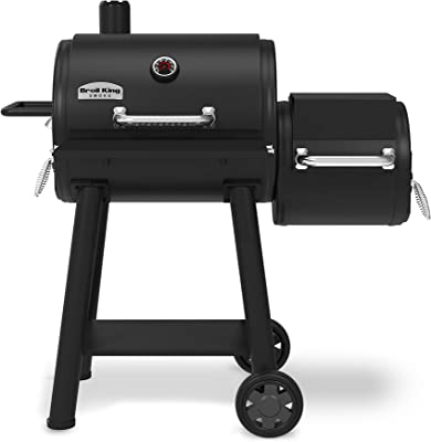 Broil King 955050 Smoke Offset 500 Offset Smoker and Grill, Black