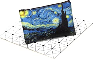 Mandyu Distinctive New Classic Print Creative Purse Famous Oil Painting Purse Lady Small Square Purse Vintage Student Mini...