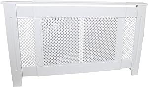 MonsterShop - Cubreradiador para Esconder Radiadores en MDF Blanco 1400mm - 1920mm