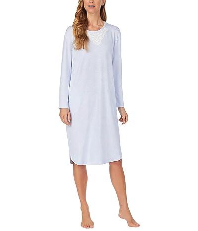 Carole Hochman Soft Sweater Knit Waltz Gown (Blue Stripe) Women