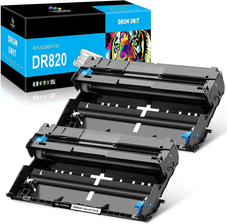 LeciRoba Compatible Drum Unit Replacement for Brother DR820 DR 820 DR-820 for HL-L5200DWT HL-L6200DW MFC-L5900DW HL-L6200DWT HL-L5100DN HL-L5200DW MFC-L5700DW MFC-L5800DW Printer (2 Drum Unit)
