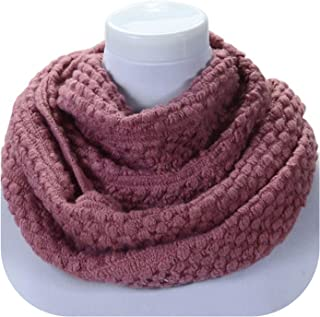 Autumn Winter Womens 2 Circle Warm Knitted Cowl Neck Scarf Shawl Gift Corn Cable Thick Scarf Wrap Scarves