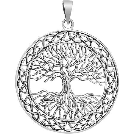 Baum des Lebens Anhänger 925 Sterling Silber Ø 2,4 cm Yggdrasil Lebensbaum