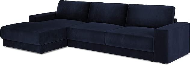 5 plazas Color Azul Claro Chaleco Milo Casa Sof/á de Esquina Izquierda de Terciopelo 275 x 165 x 88
