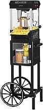 "Nostalgia KPM220CTBK 2.5 oz Professional Popcorn & Concession Cart with 5 quart Bowl, 45"" Tall, Makes 10 Cups, with Kernel..."