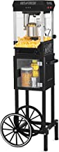 Nostalgia KPM220CTBK 2.5 oz Professional Popcorn & Concession Cart with 5 quart Bowl, 45