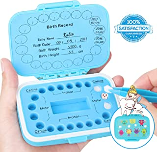 Baby Teeth Keepsake Box,Tooth Storage,Lost Deciduous Tooth Collection Organizer,Cute Children Tooth Fetal Hair Umbilical Container,Saving Baby Teeth,Keep The Kids Memory,Record Their Growth Process