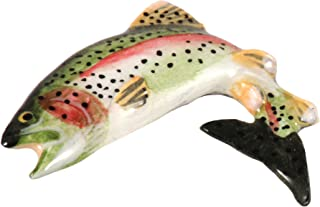 Rainbow Trout Fish Pewter Lapel Brooch Pin