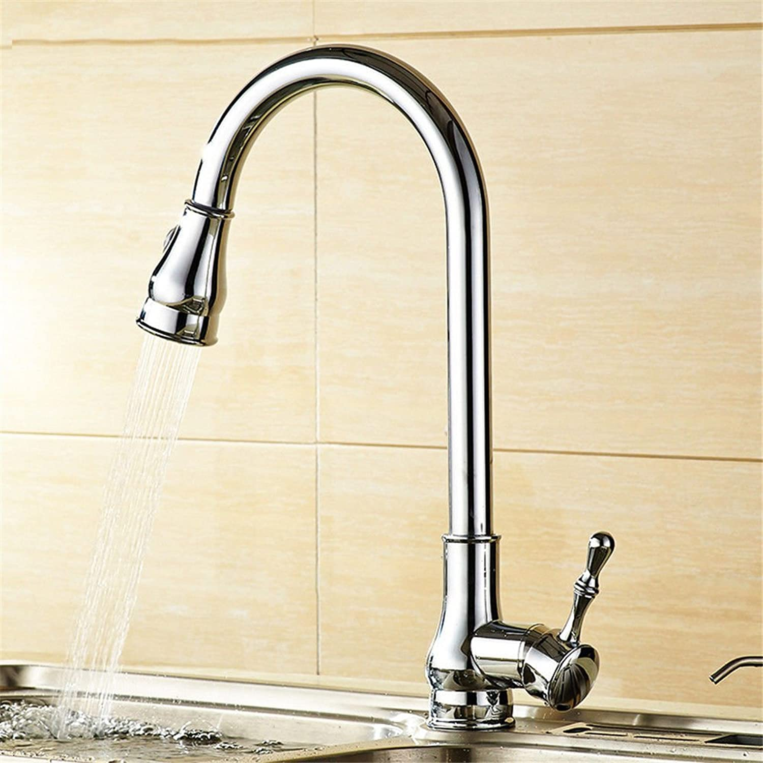 Gyps Faucet Single-Lever Washbasin Mixer Tap Black Antique Pull-Down Cable Sink Fittings Kitchen Full Copper Black and Cold Tap B Mixer Tap