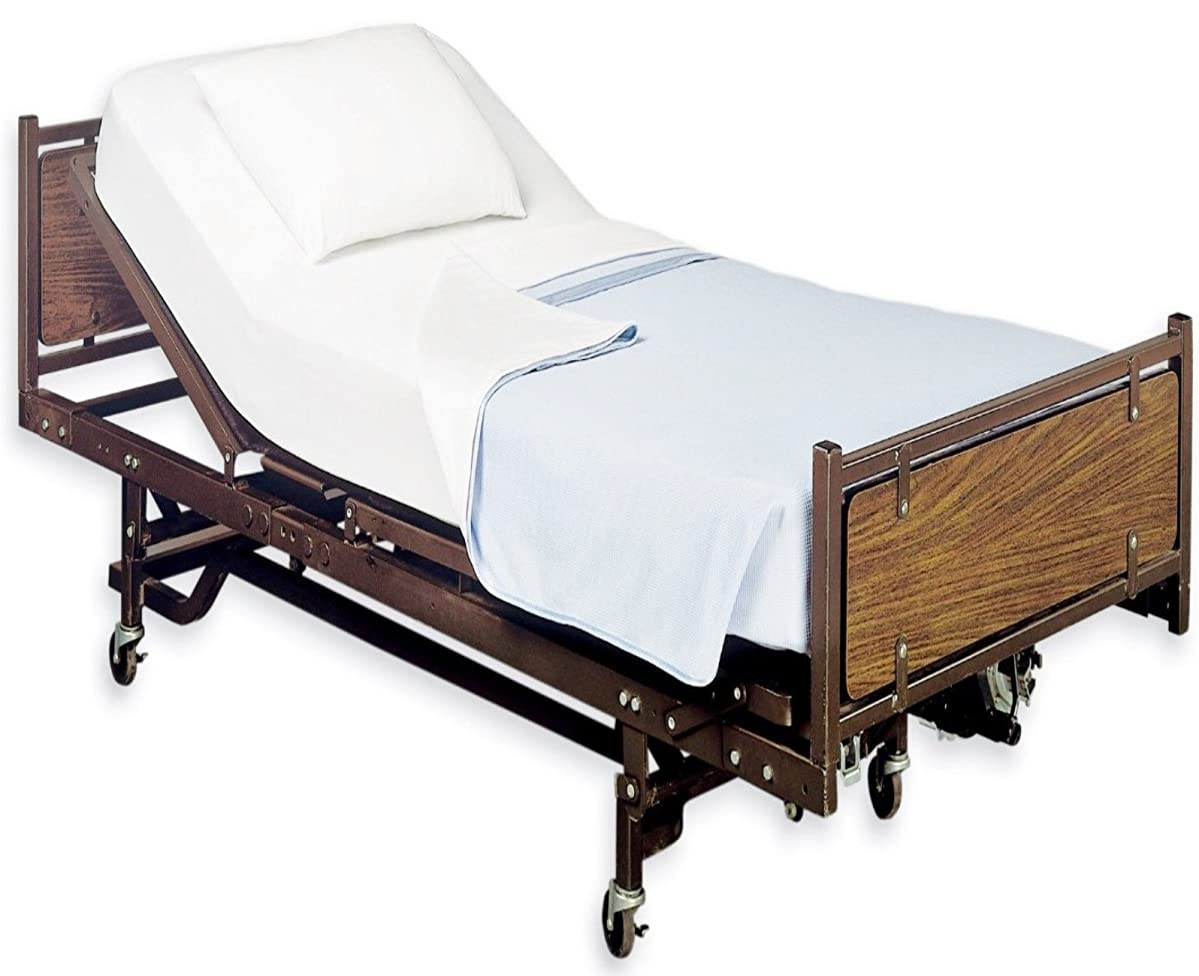 White Classic Fitted Hospital Bed Sheets, Soft Knitted Jersey Knit Sheet, 36