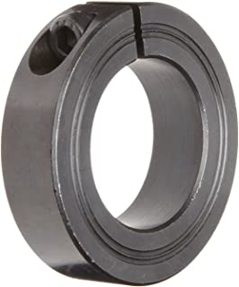 57mm OD 36mm Bore 15mm Width Climax Metal Products Steel Climax Metal M1C-38 One-Piece Clamping Collar Black Oxide Plating Metric