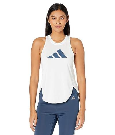 adidas Badge of Sport Logo Tank Top (White/Crew Red/Crew Navy) Women