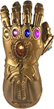 haho Infinity Gauntlet Thanos Glove with LED Light Costume Prop Toy for Adult Kids Cosplay
