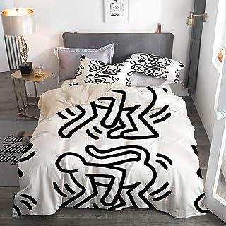 Copripiumino Keith Haring.Amazon It Keith Haring Biancheria Da Letto Tessili Per La