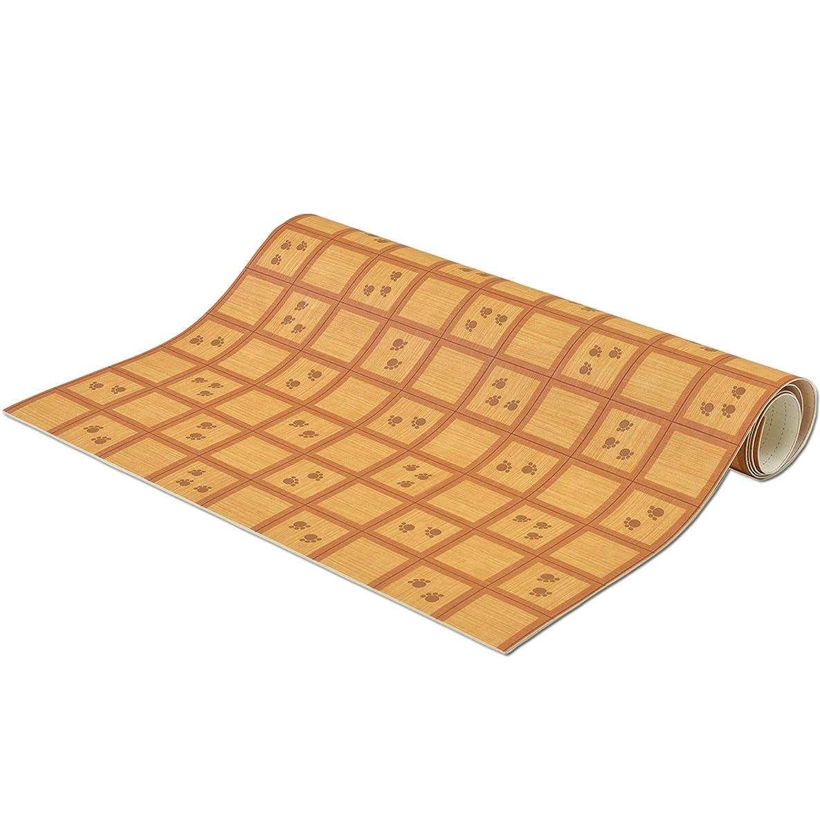 肺炎成功する服を片付けるNBL ペット用 拭ける消臭床シート 滑り止め付き 肉球ウッド 約90×100cm 抗菌 床保護
