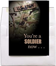 You're A Soldier Now - United States Army - Military Boot Camp Graduation Congratulations Greeting Card - Includes Envelope - 5