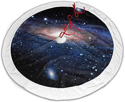 CZLXD - Falda para árbol de Navidad, diseño de Galaxias, poliéster ...