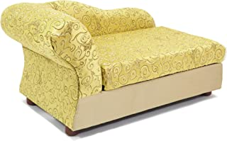Moots Cleopatra Pet Chaise Lounge Bed Elegant Metallic Gold, Medium