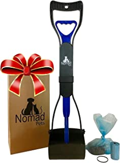 Complete Pooper Scooper Gift Set for Dogs with Large Poop Bags Included - Best for Small, Medium, Large, XL Pets - Long Handle Scoop - Portable and Heavy Duty - Great in Grass and Cement