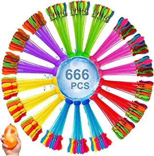 水風船 大量 666個(37個×18束)みずふうせん 水遊び 60秒で一気に作れる水風船 バーベキュー、水合戦、学園祭、花火大会での水遊び ウォーターゲーム イベント用品 子供のお誕生日プレゼント ホースアダプターを付き
