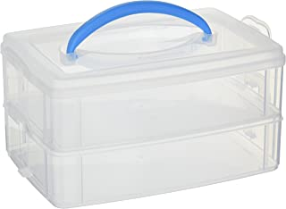 Snapware 1098834 Snap 'N Stack 2-Layer (6.9 9.7-Inches) Storage Container, 6.9 x 9.7, Clear