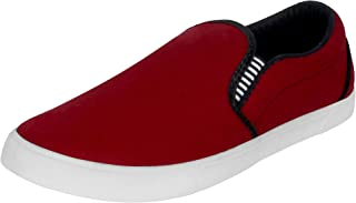 Shoefly Men Maroon Model-1058 Loafers,Sneakers,Sports Shoes, Running Shoes for Men,Cricket Shoes,Casual Shoes,Trekking Sho...
