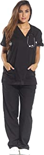 Women's Scrub Sets Six Pocket Medical Scrubs (V-Neck with Cargo Pant)