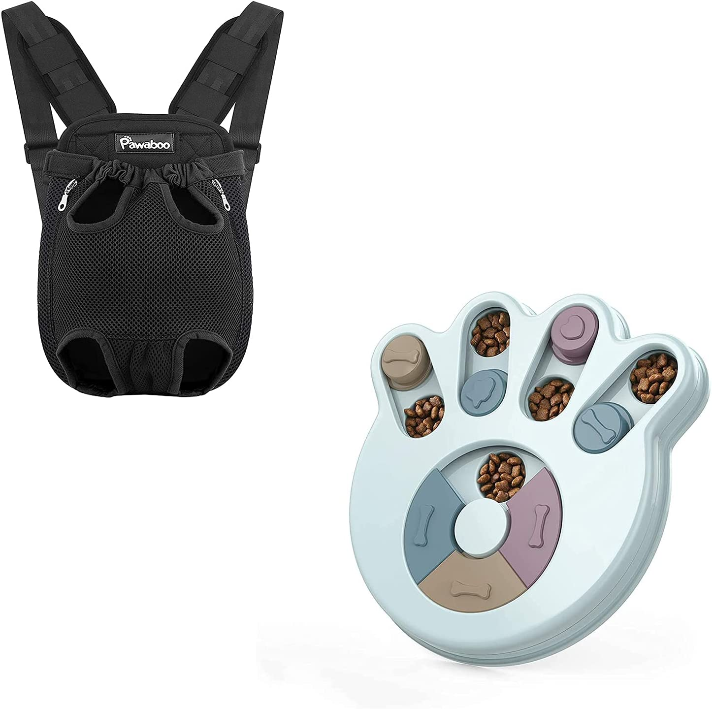 Pawaboo Pet Carrier Backpack M Toys Popular brand in the world Dog Puzzle Black lowest price Size