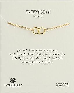 Dogeared - Friendship Double Linked Rings Chain Bracelet