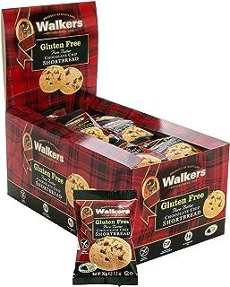 Walkers Shortbread 无麸质巧克力片小酥饼零食包,24小袋,来自苏格兰高地的纯黄油饼干,无人工香料