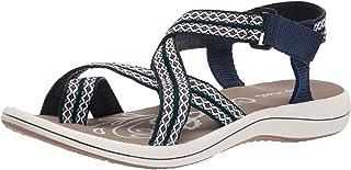 Easy Street Women's Sport Sandal, Navy, 6 Wide