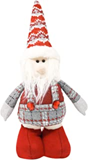 Myriad Choices Christmas Santa Claus Ornaments 20-28 inches Standing Stretchable Gnomes Plush Figurine Toys for Christmas ...