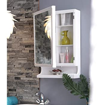 HOMACE New Look Multipurpose Bathroom Mirror Cabinet with Storage for Home & Office (White)
