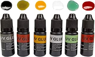 Riverruns 6 Colored Super UV Glue Combo Set Revolutionary Fly Tying for Building Flies Flies Heads Bodies and Wings Tack 1...